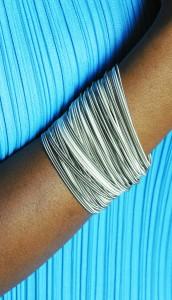Tiziana armband 97 Sel et poivre zilver
