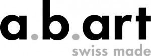 Logo ab art zwart grijs